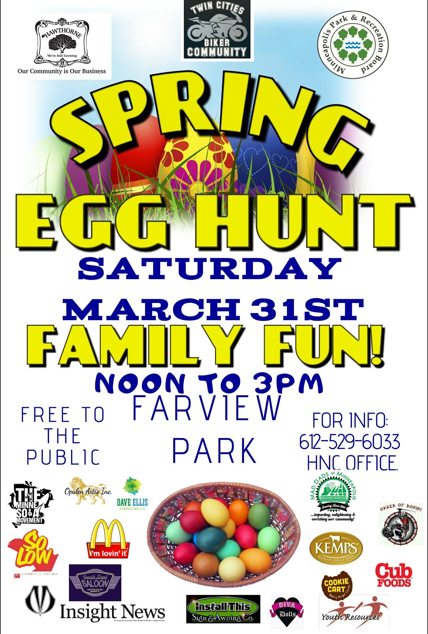 Spring Egg Hunt Family Fun! @ Farview Park   Minneapolis   Minnesota   United States